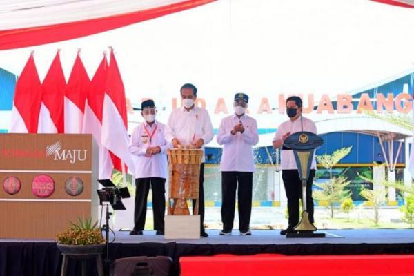 Presiden Jokowi Resmikan Bandara Kuabang Halmahera Utara
