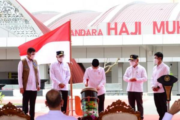 Wapres KH Ma`ruf Amin Resmikan Bandara Haji Muhammad Sidik Muara Teweh