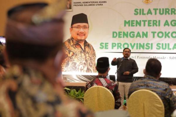 Gus Yaqut Silaturahmi dengan Tokoh Agama se Provinsi Sulut