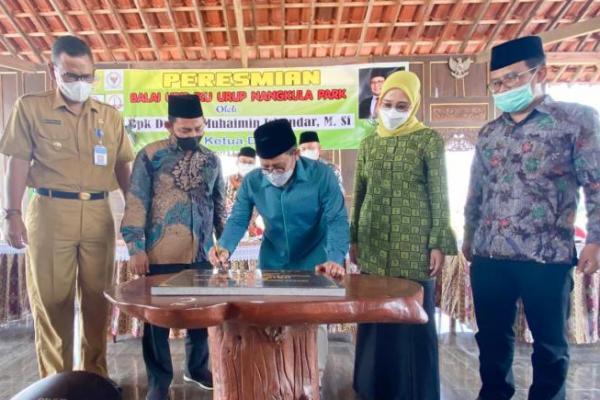 Dirintis dari Dana Desa, Gus AMI Resmikan Nangkula Park di Tulungagung