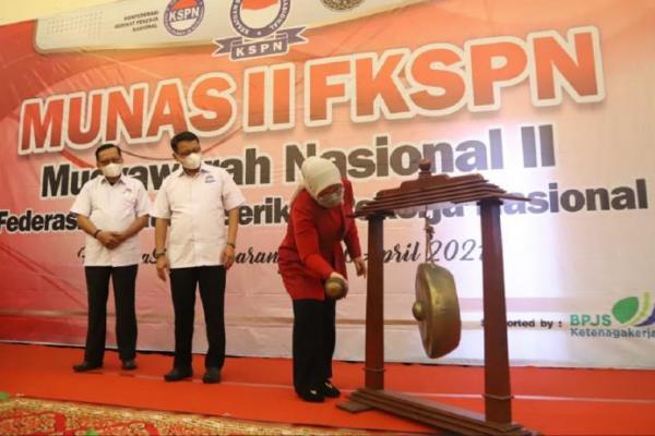 Buka Munas FKSPN, Menaker Ida Ajak Serikat Buruh Perkuat Dialog Ketenagakerjaan