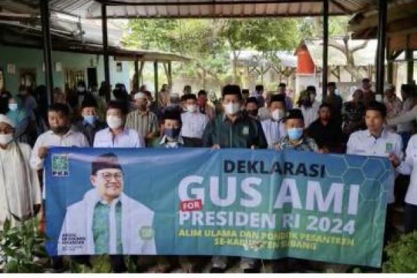 Kiai dan Santri di Subang Dukung Gus Muhaimin Maju Capres 2024