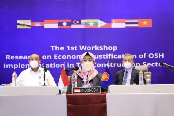 Tekan Kecelakaan Kerja di Sektor Konstruksi, Kemnaker Gelar Workshop ASEAN-OSHNET